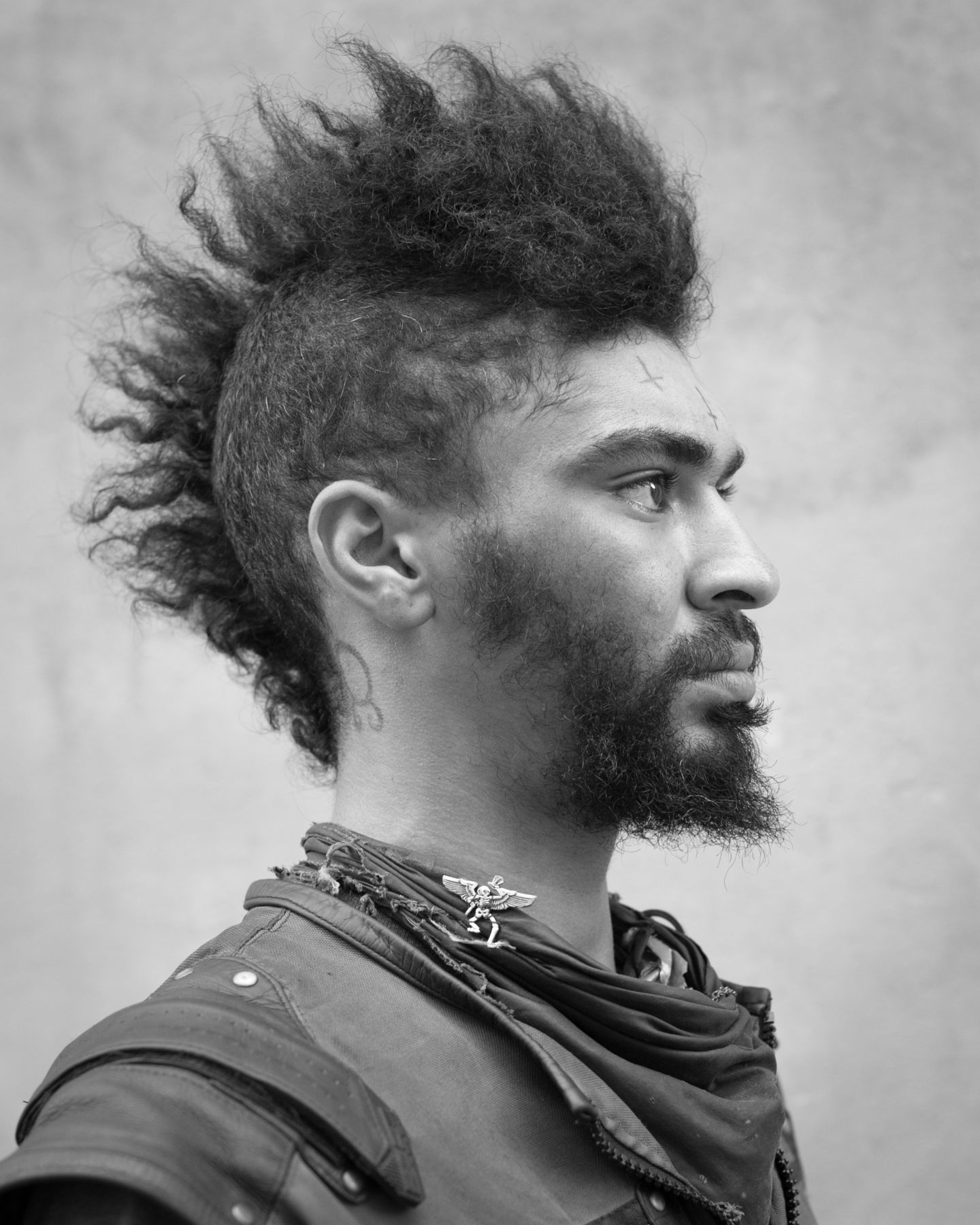 Man with mohawk by Michael Joseph