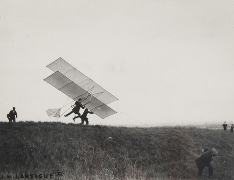 Glider taking off by J. H. Lartigue