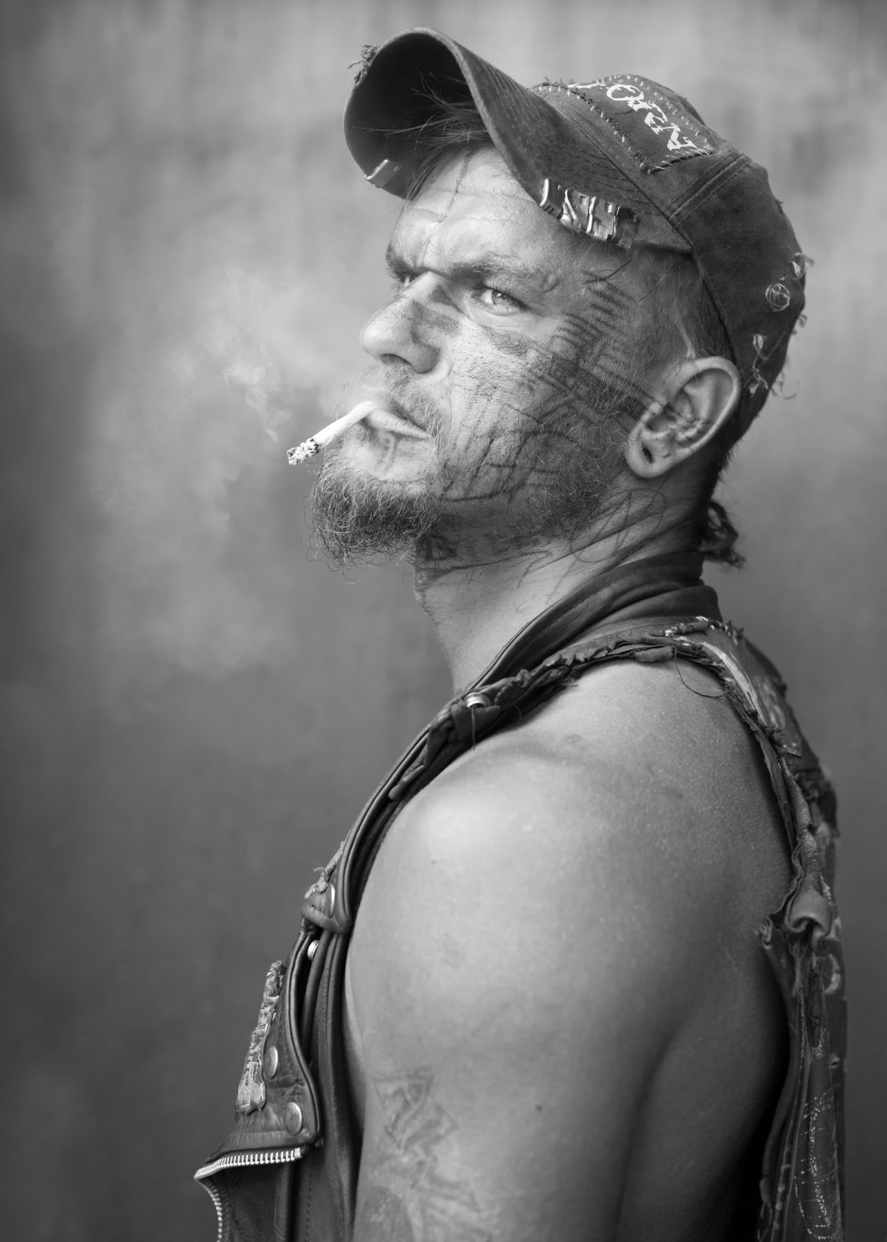 Man smoking by Michael Joseph