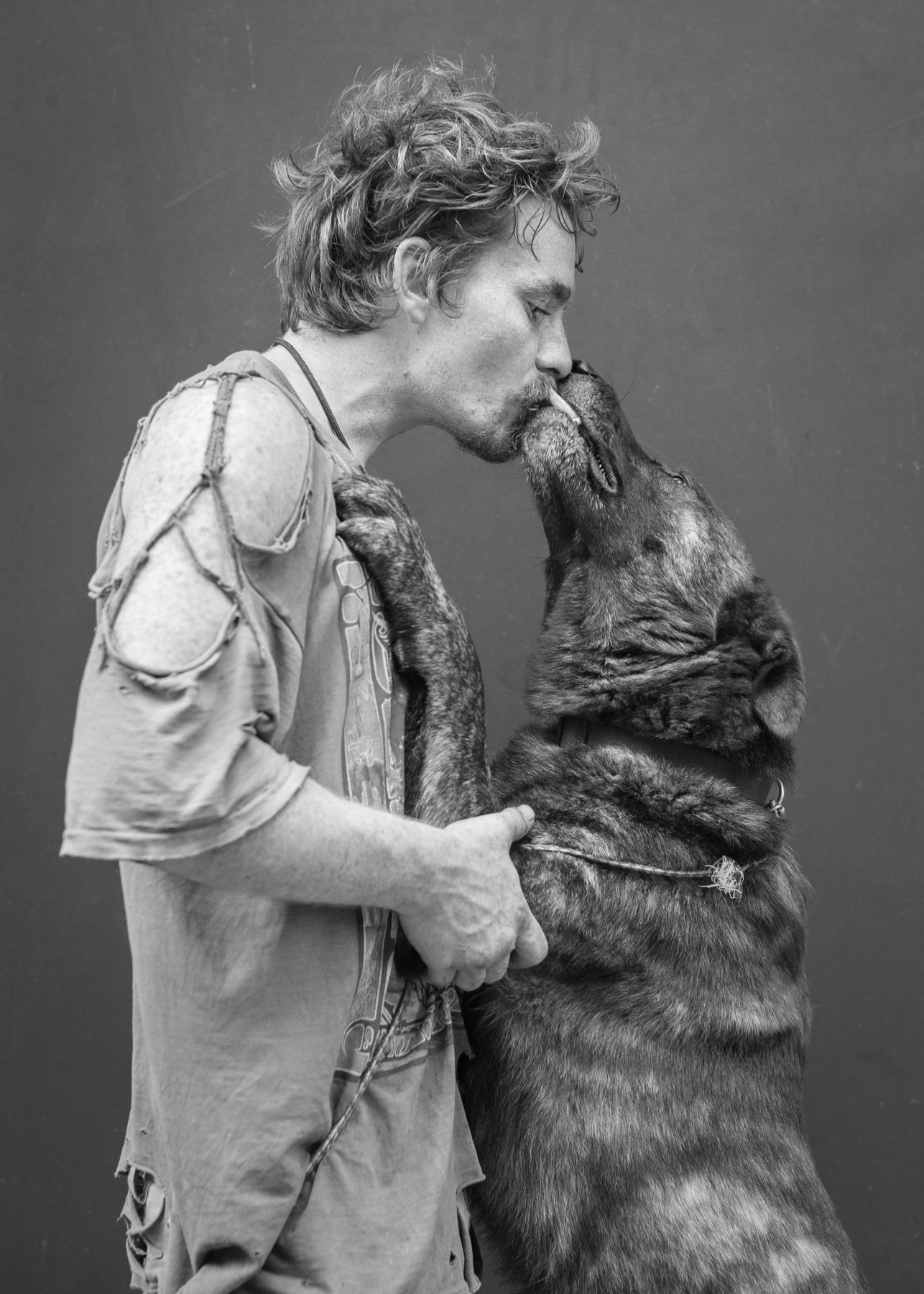 Man and dog by Michael Joseph