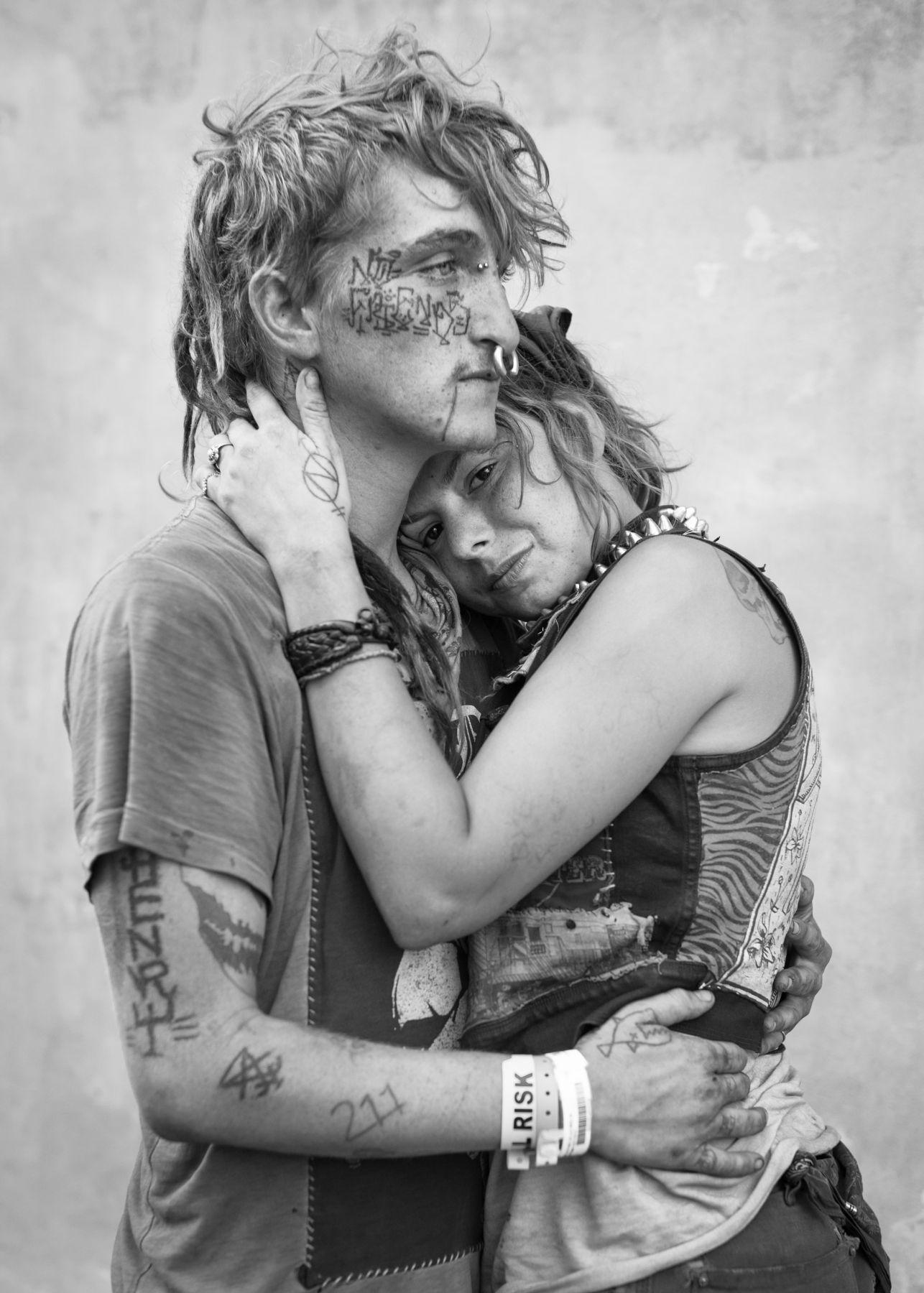 Tattooed couple by Michael Joseph