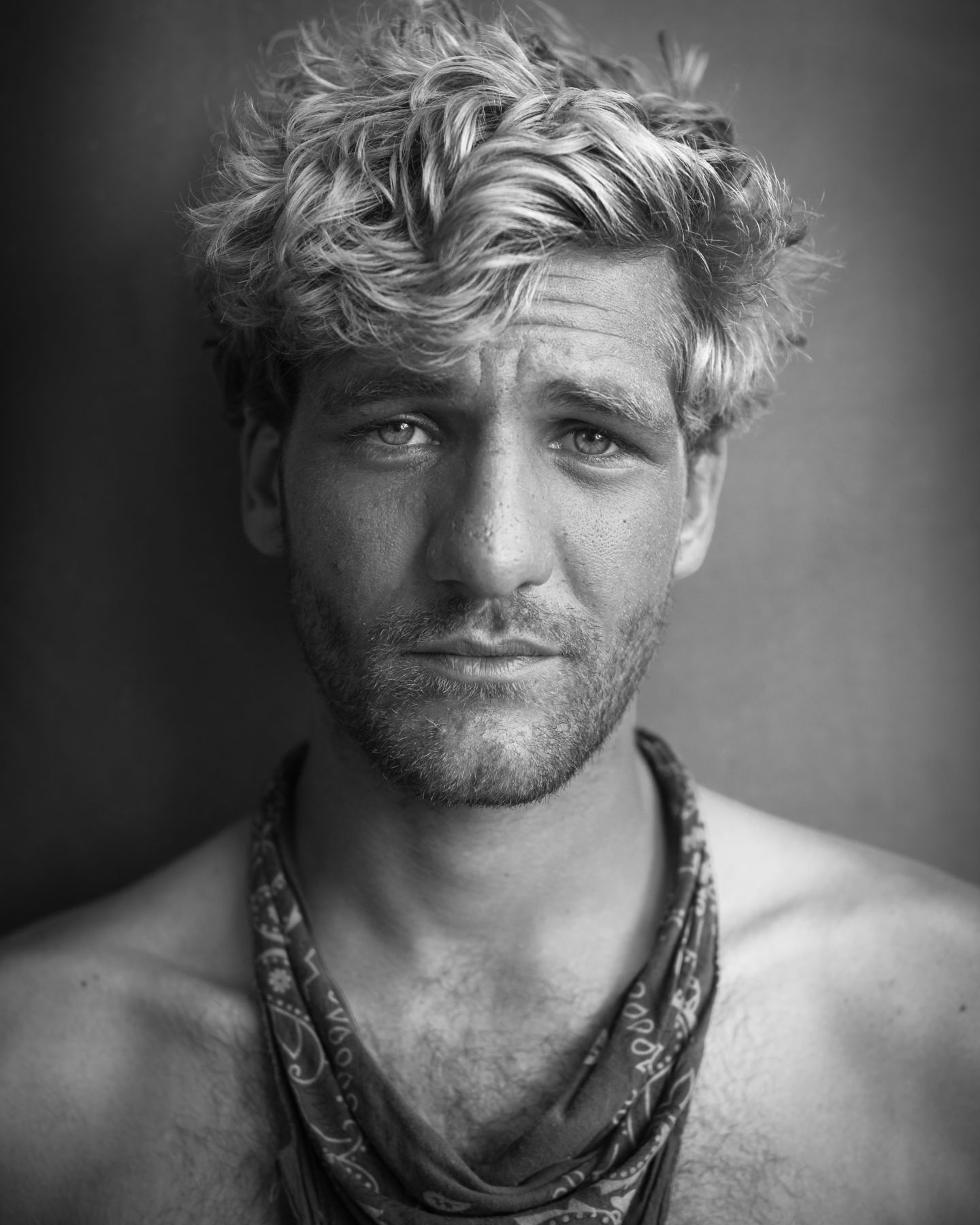 Blonde man with bandana by Michael Joseph