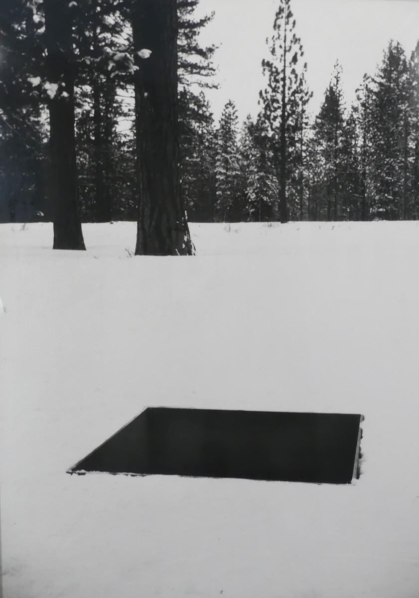 Snowy field by Michael Heizer