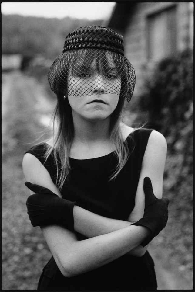 Girl in veil by Mary Ellen Mark