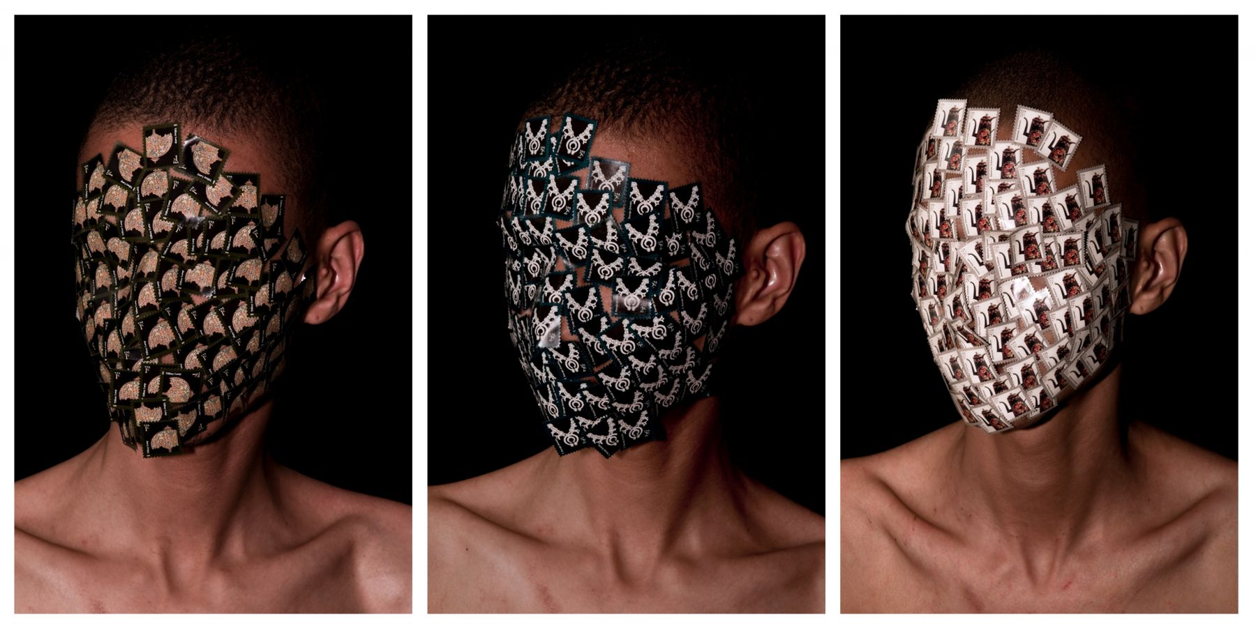 Wilmer Wilson IV Henry Box Brown: Heads Triptych archival pigment prints, 23 x 15 inches each