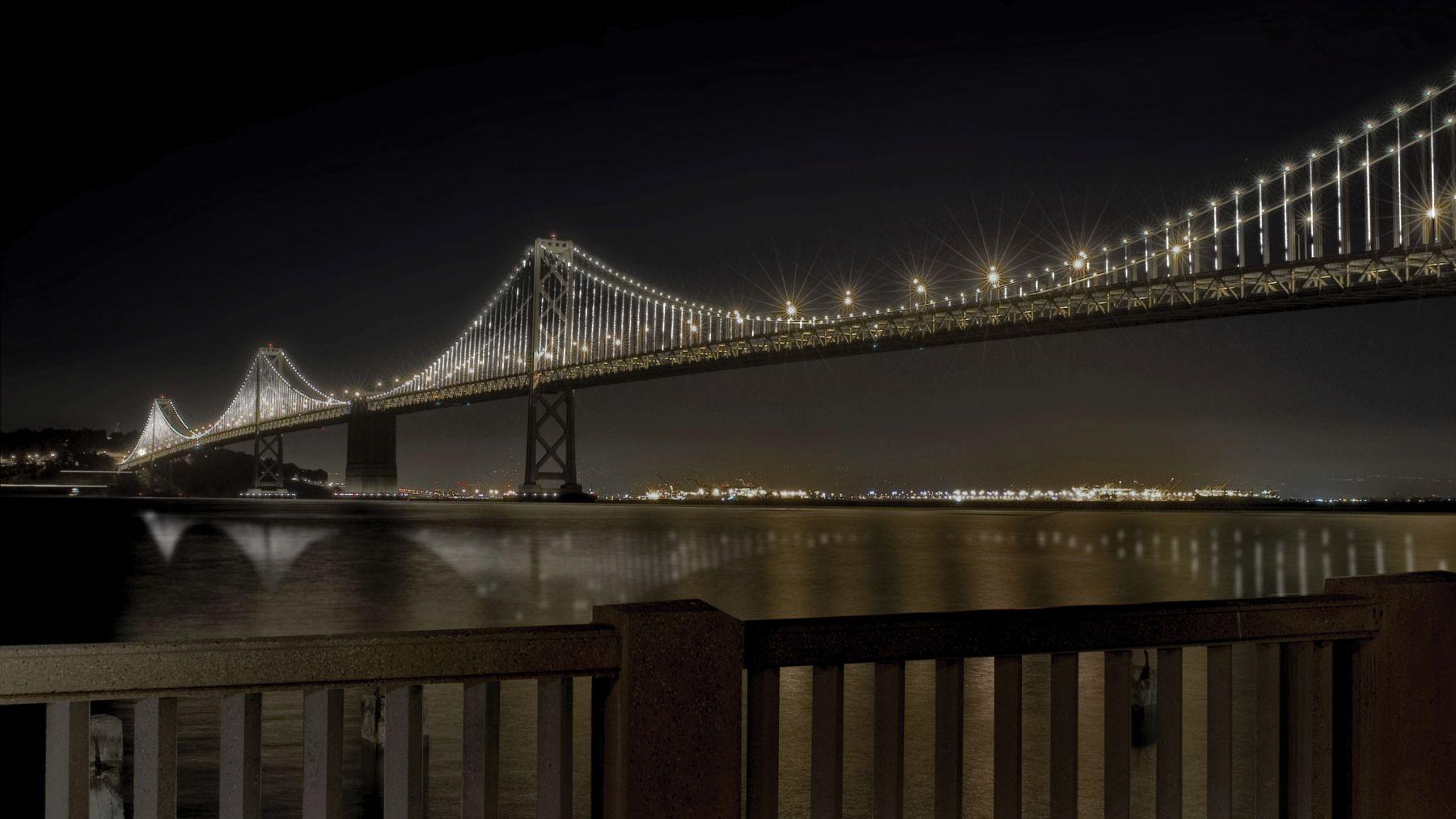 Leo Villareal The Bay Lights light emitting diodes, custom software Site specific installation: The Bay Bridge, San Francisco, CA