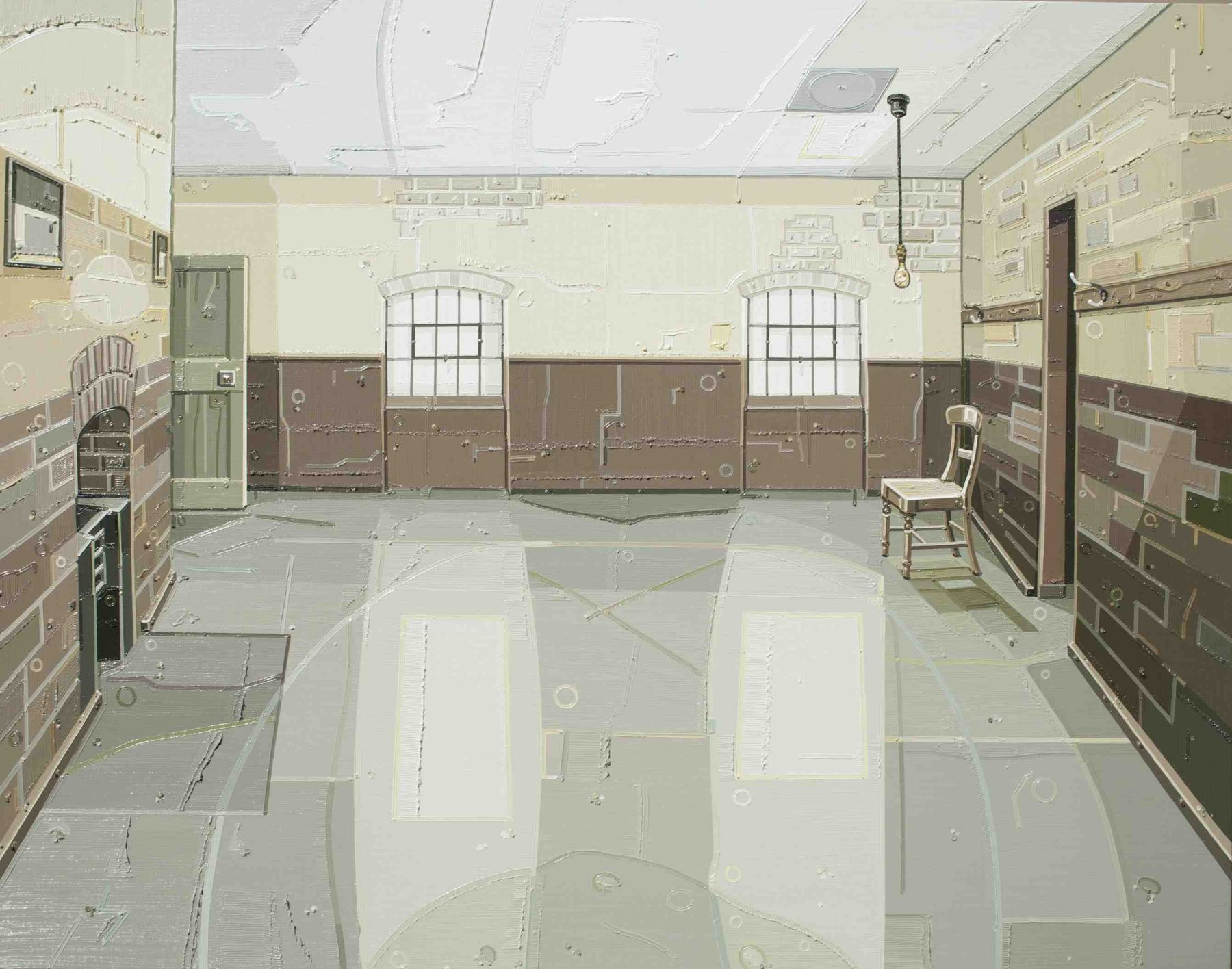 JULIE ROBERTS Workhouse (Male Ward) 2012, oil on linen