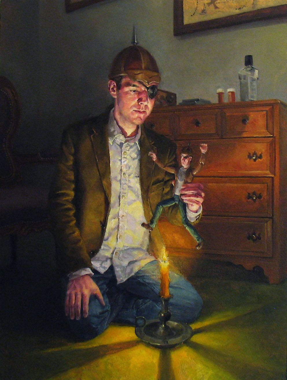 NATHANIEL ROGERS Nimble Jack 2009, oil on panel, 8 x 6 inches.