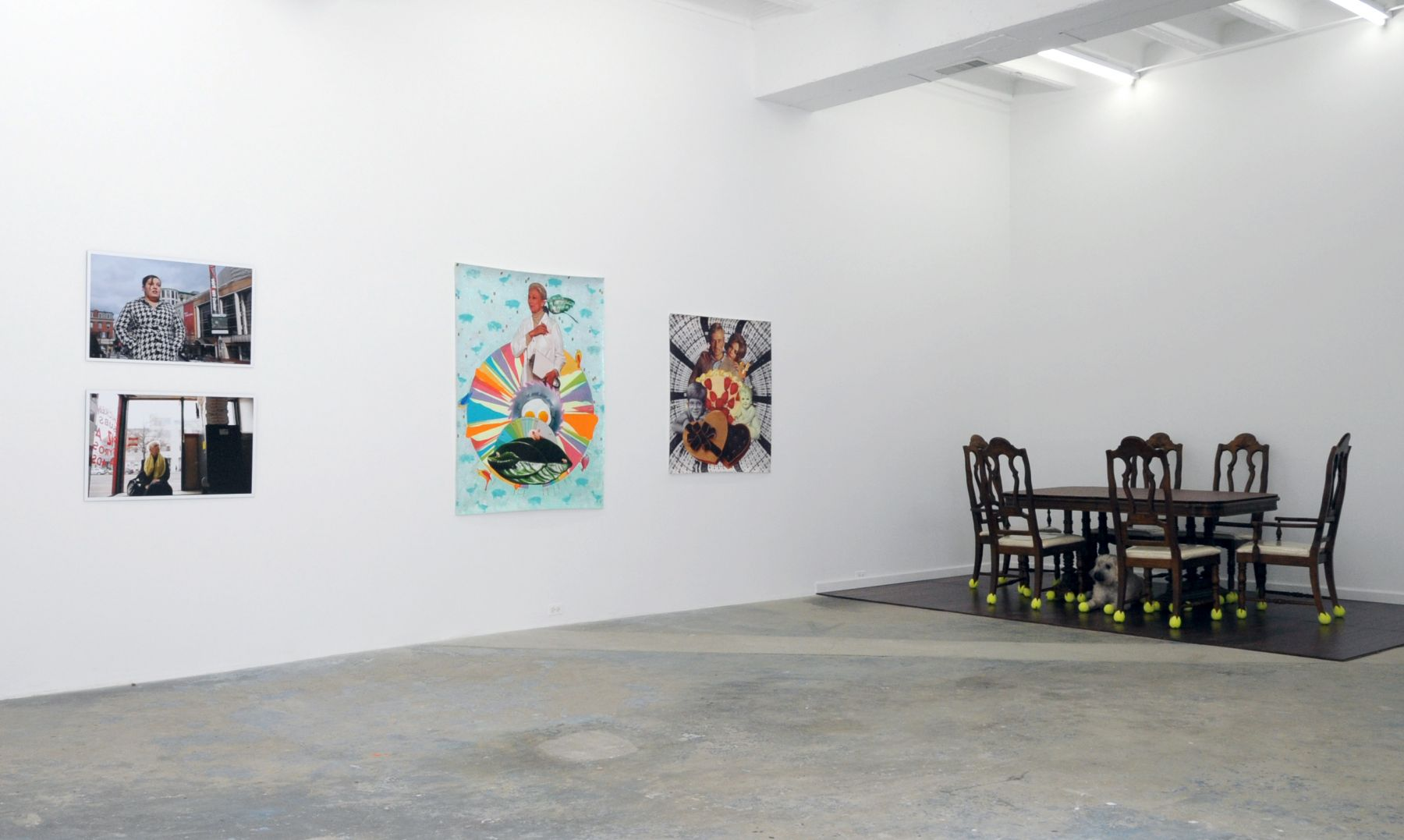 vSIERRA SURIS, LIBBY LANDAUER and GINNY HUO ACADEMY 2011 Installation view: Conner Contemporary Art.