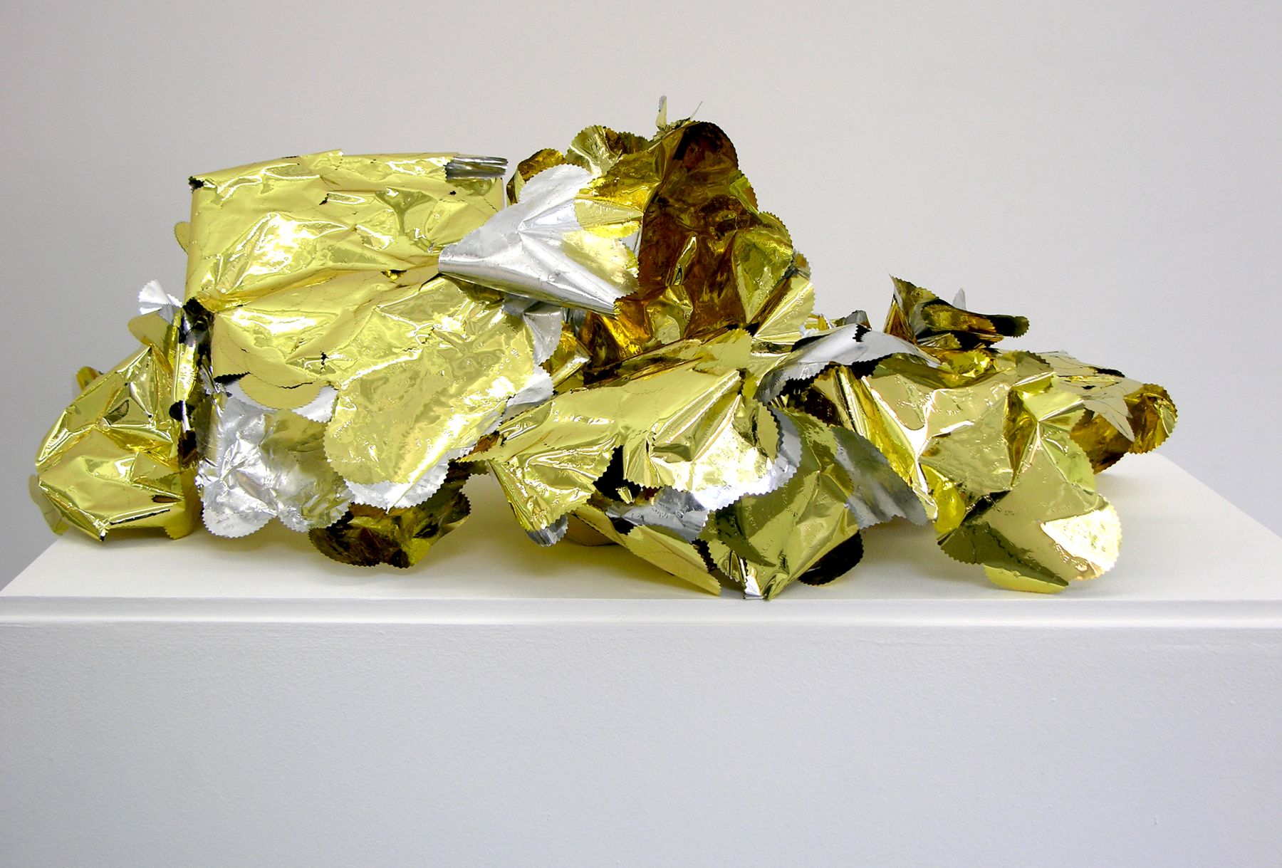 Wilmer Wilson Shed Skin (Authentic/DC Notary)  2012, foil, adhesive, DNA, dimensions variable