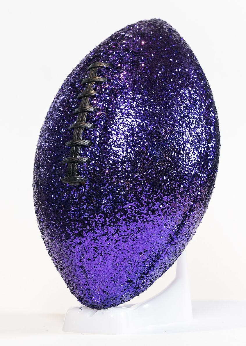 SHELDON SCOTT  Exorcism of the Sweet (purple)  2019, glitter, leather, poly, glue, dimensions variable
