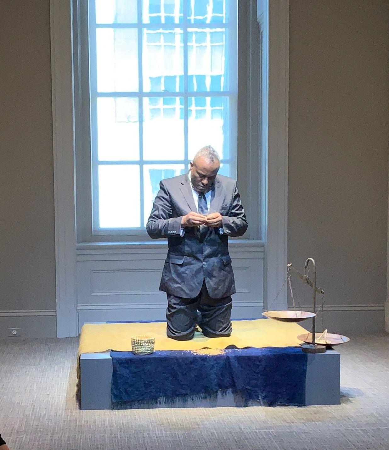 Sheldon Scott performance National Portrait Gallery