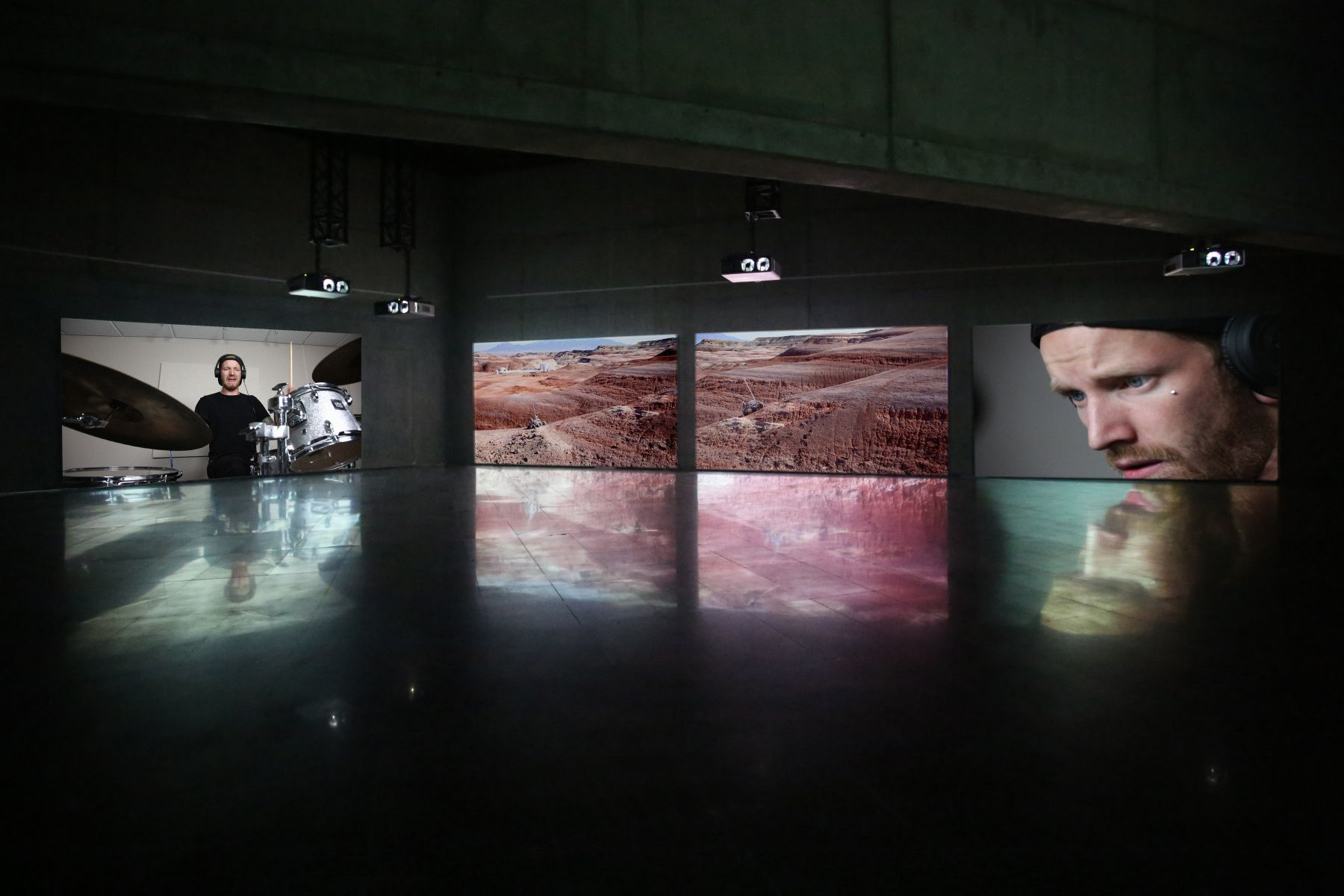 JANET BIGGS Seeing Constellations in the Darkness Between Stars installation view