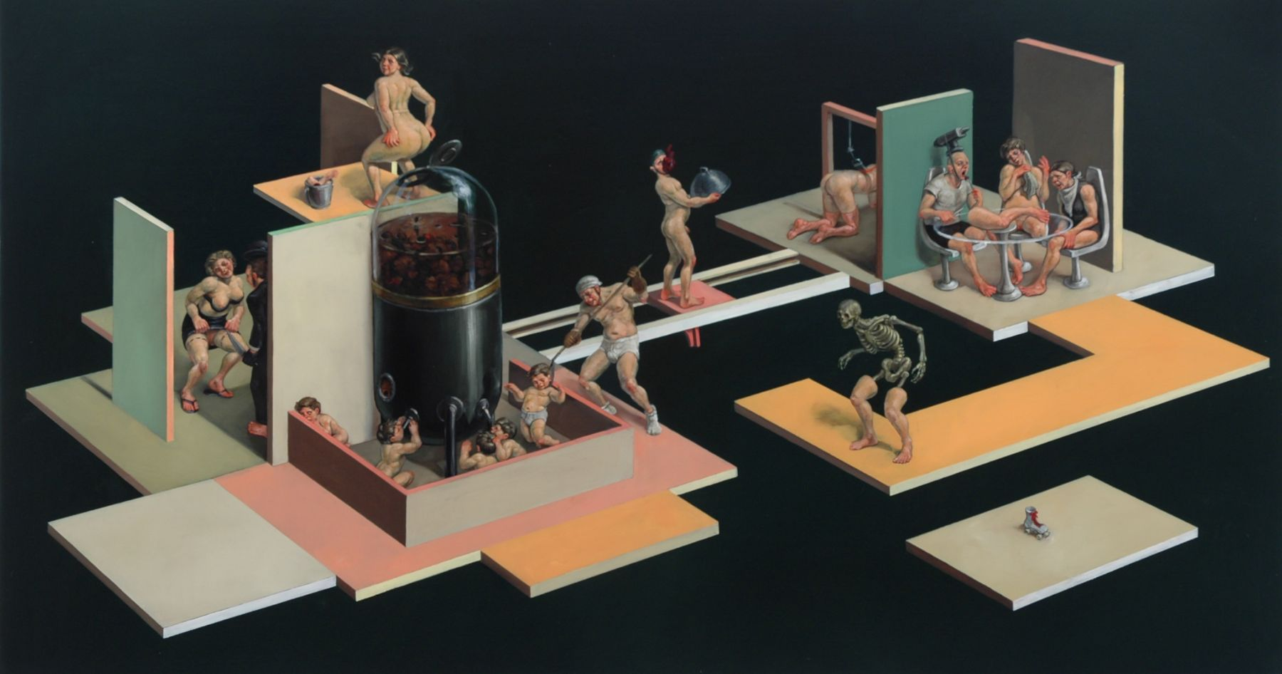 ERIK SANDBERG Transition 2006, oil on wood panel, 30 x 45 x 3 inches.