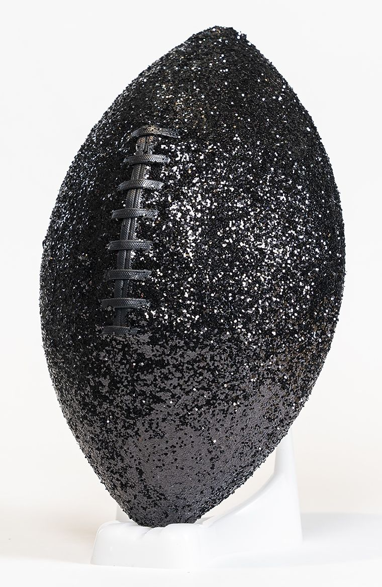 SHELDON SCOTT  Exorcism of the Sweet (black)  2019, glitter, leather, poly, glue, dimensions variable
