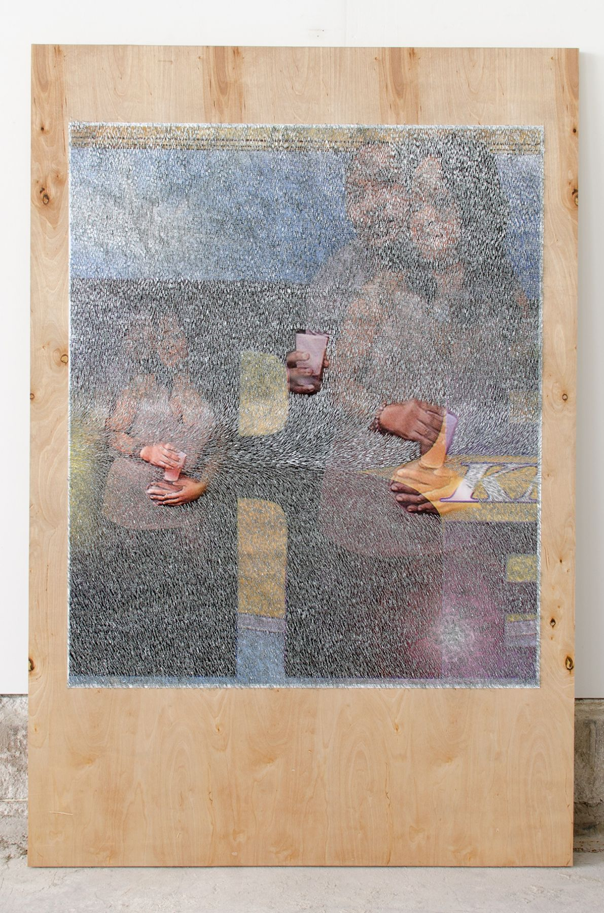 Wilmer Wilson IV REAL KNOW REAL 2016, mixed media on wood, 72 x 48 inches