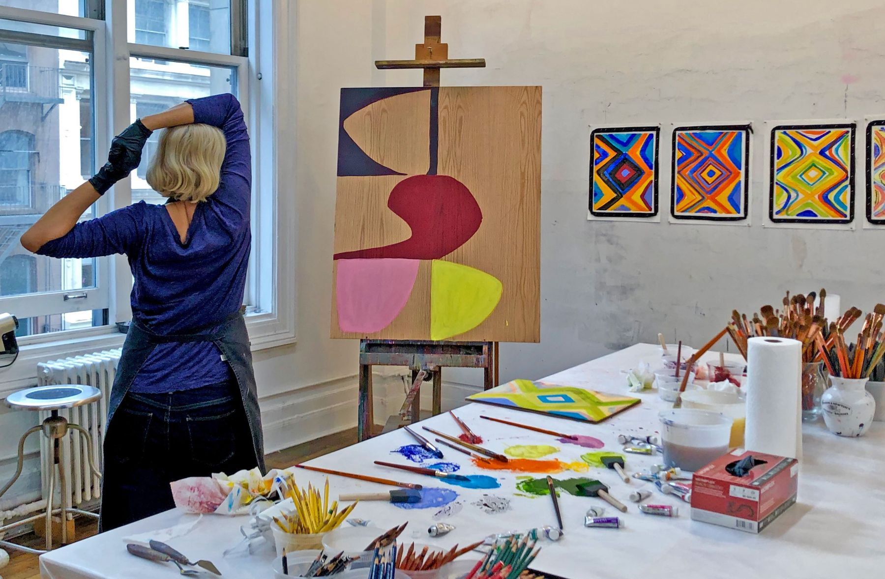 Marina in the studio