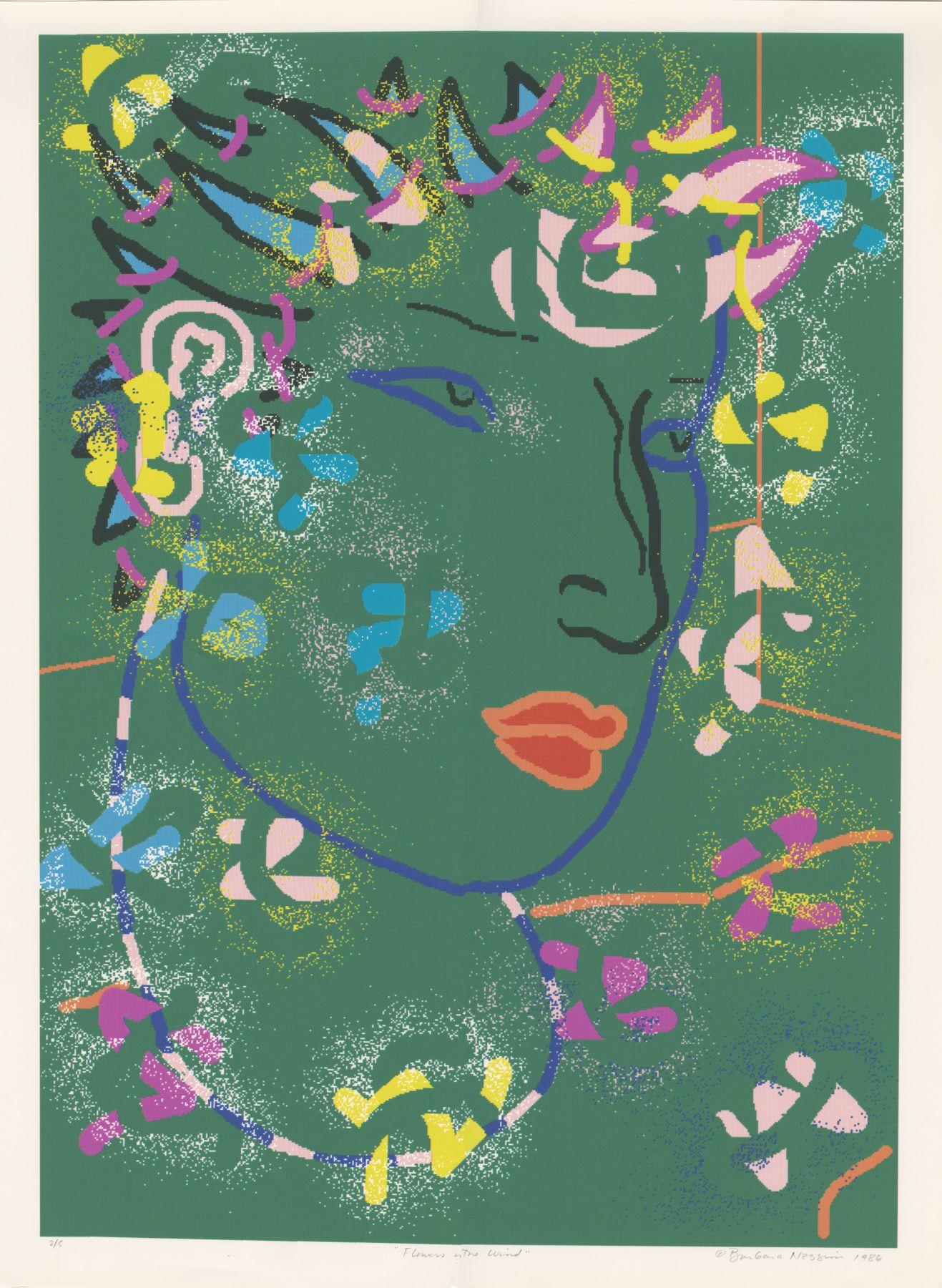 Barbara Nessim - Flowers in the Wind