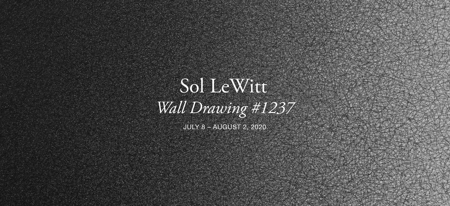 """Detail of Sol LeWitt's """"Wall Drawing #1237, Scribbles (BKSR)."""" First installation: Steve Reich and Beryl Korot residence, Pound Ridge, New York, May 2007. graphite. 9 x 7 ft (274.3 x 213.4 cm)."""