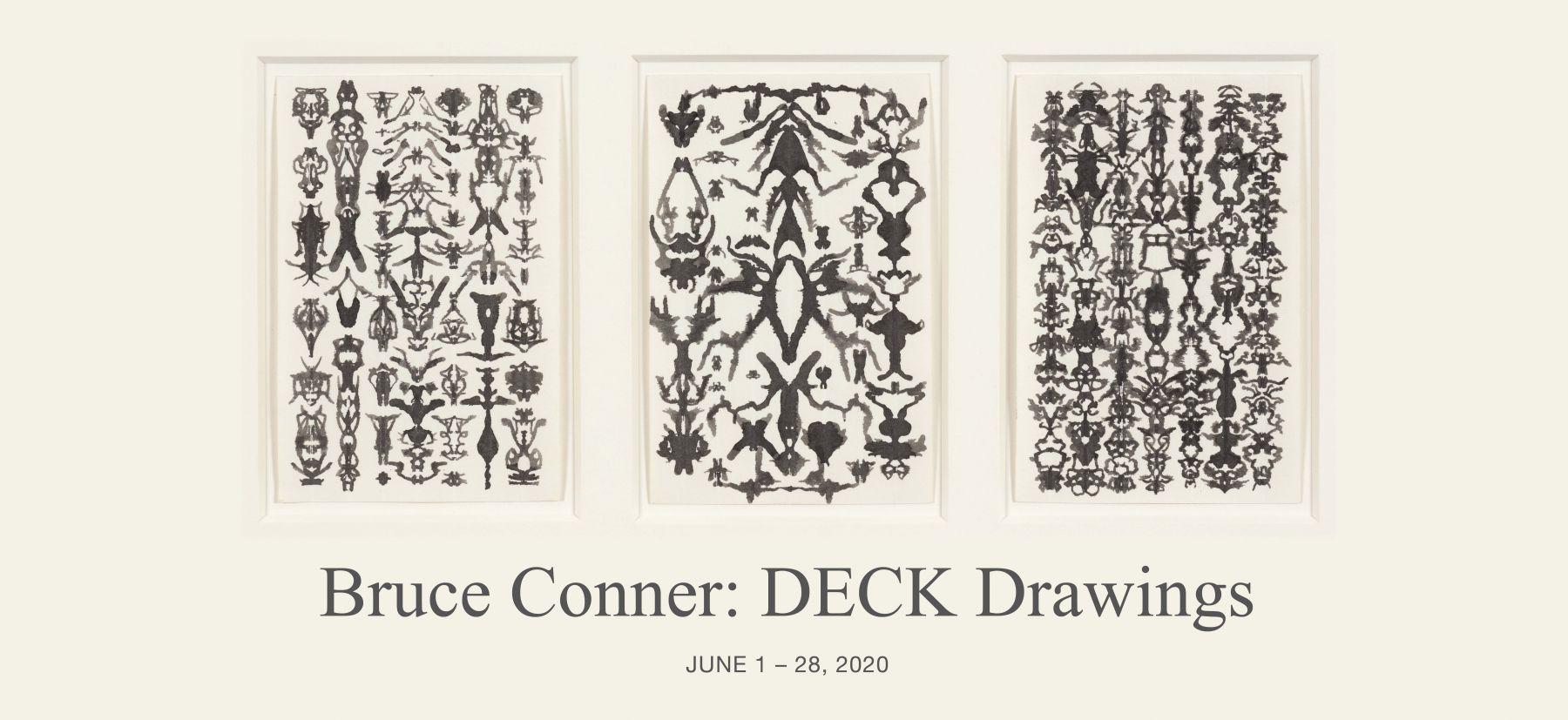 Bruce Conner TRIO 52-19-1, 1975 ink each card: 6 x 4 in. (15.2 x 10.2 cm) frame: 13 1/4 x 21 1/4 in. (33.7 x 54 cm)