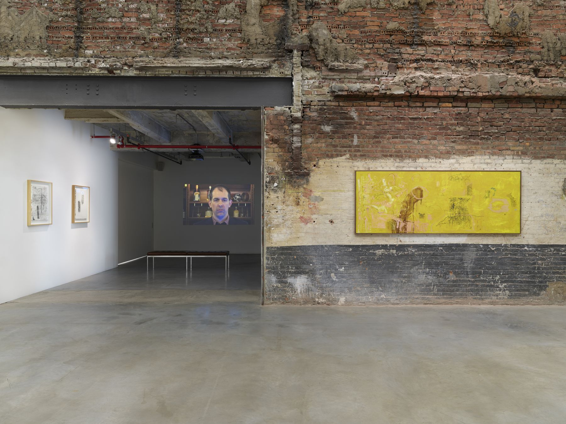 Installation image: Second Floor (Street Scene + Take This for Example)