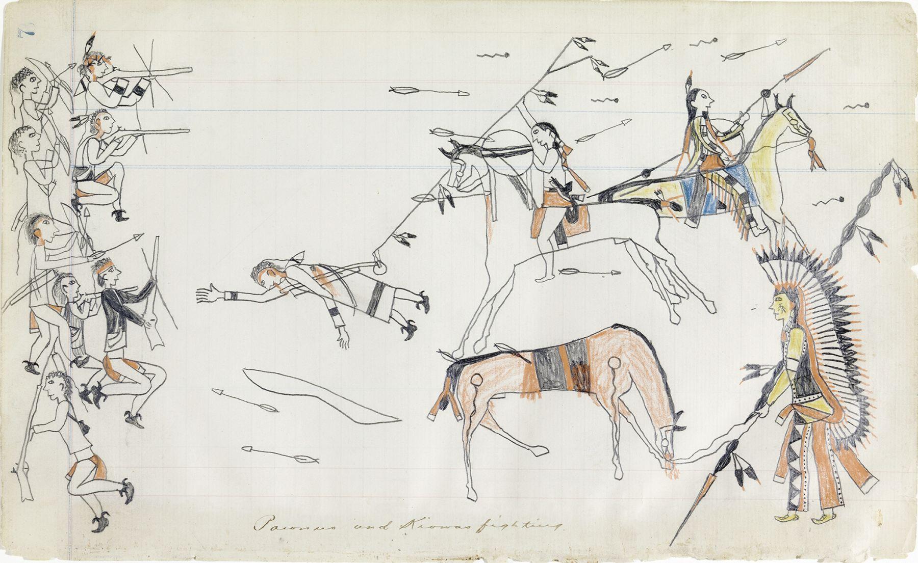 Julian Scott Ledger Book, Kiowa