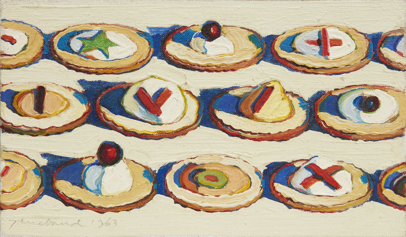 "Image of Wayne Thiebaud's ""Hors d'Oeuvres"""