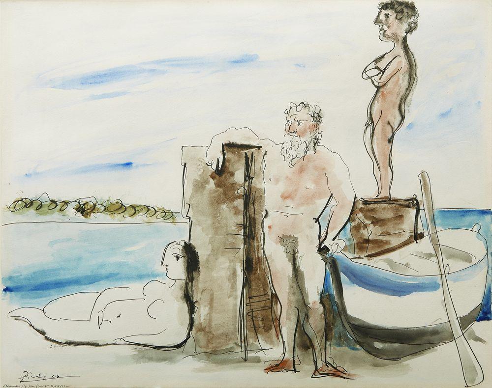 """Image of Pablo Picasso's """"Personnages sur la plage"""""""
