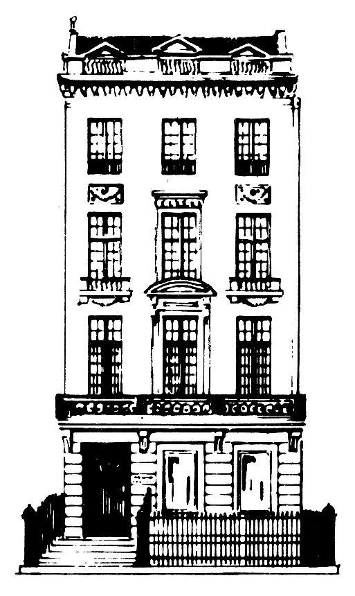 Sketch of Acquavella Galleries building