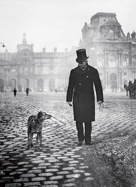 Image of Caillebotte with a dog