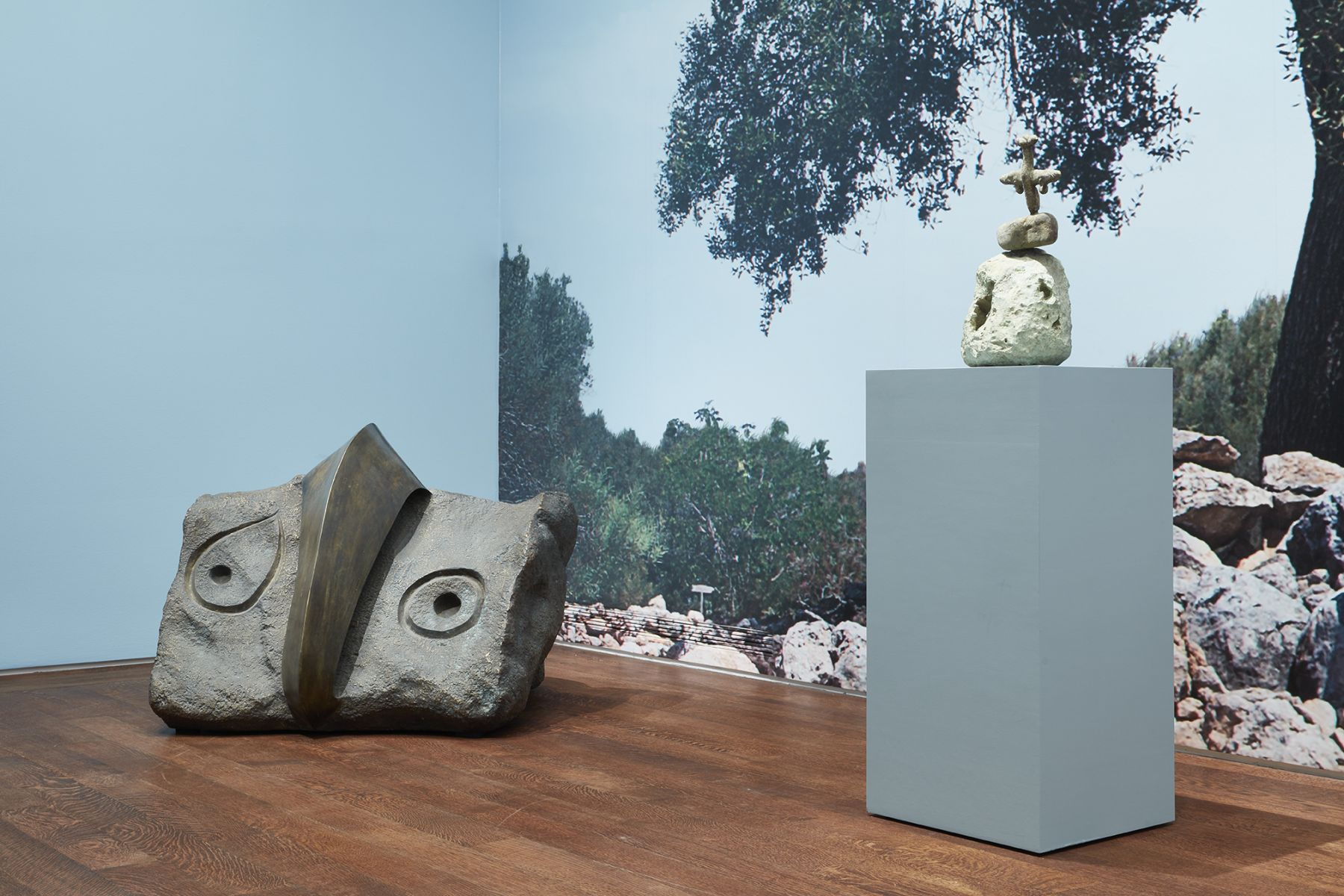 Installation view of Miró the Sculptor: Elements of Nature