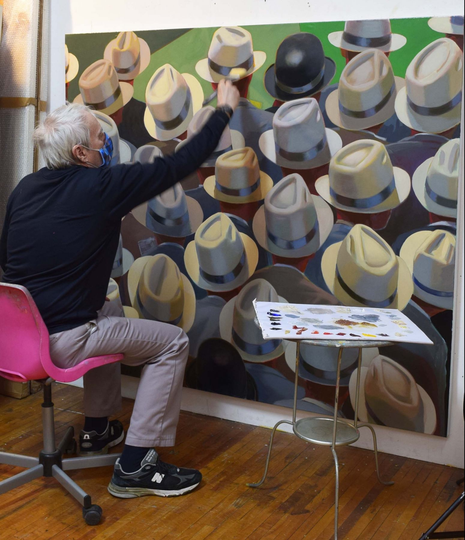 Image of Greg Painting in his studio