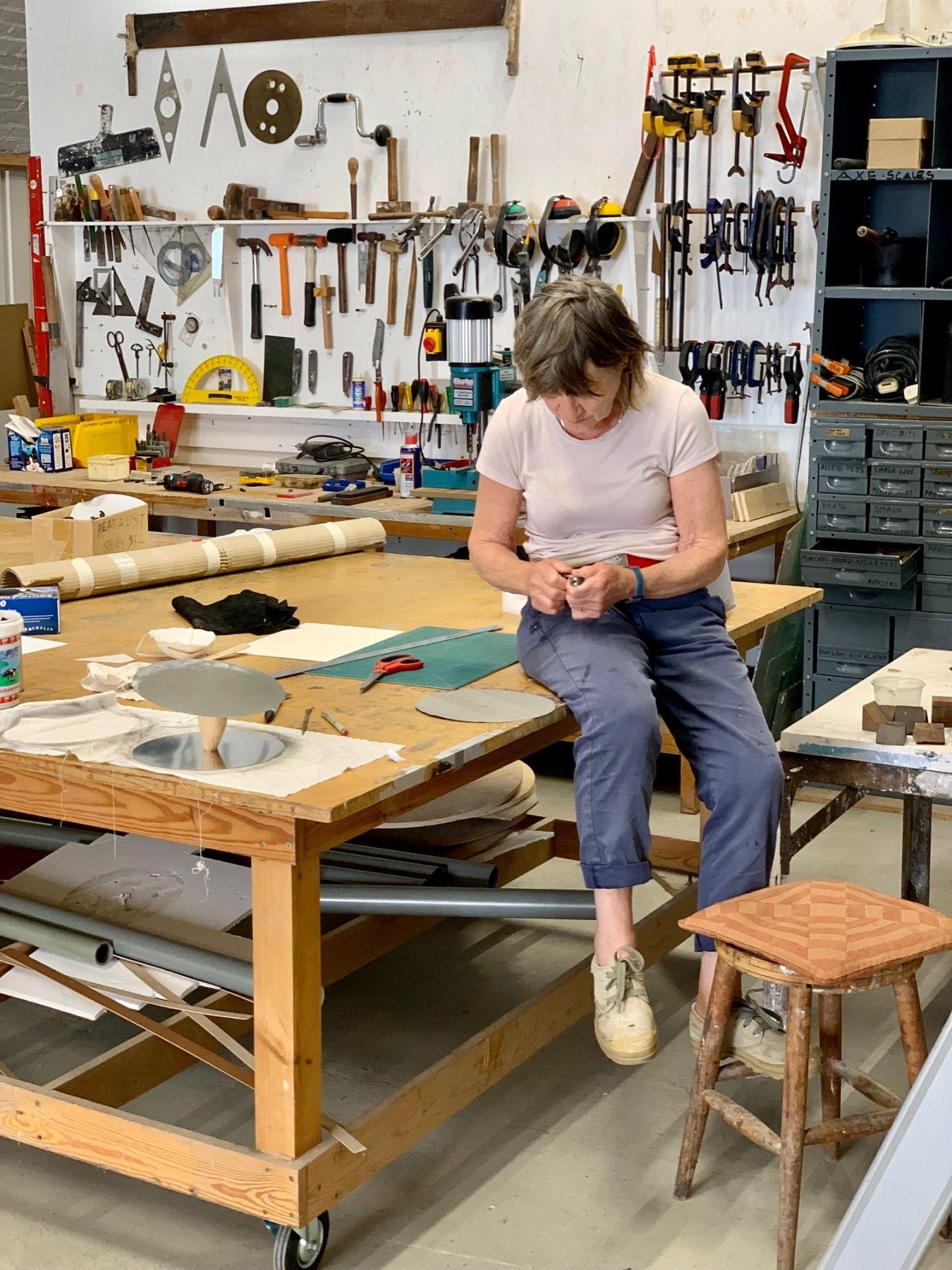 photo of Alison in studio