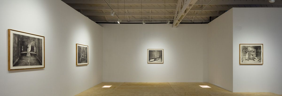 Installation view of Stature photographs at Klowden Mann Gallery, Los Angeles