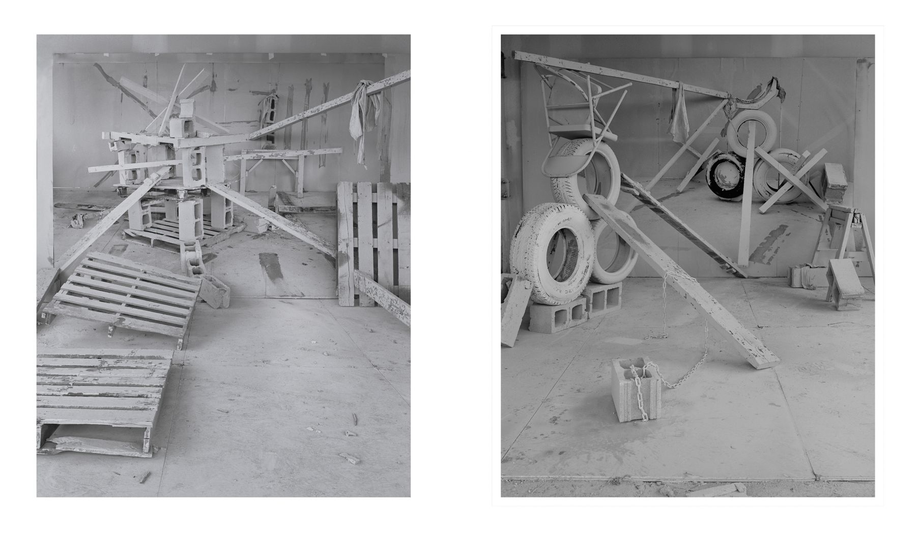 Two Barricade photographs by Rodrigo Valenzuela