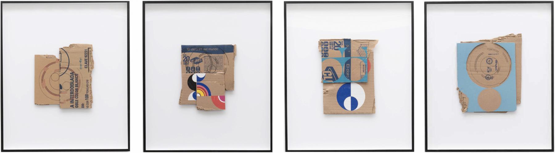 4 cardboards