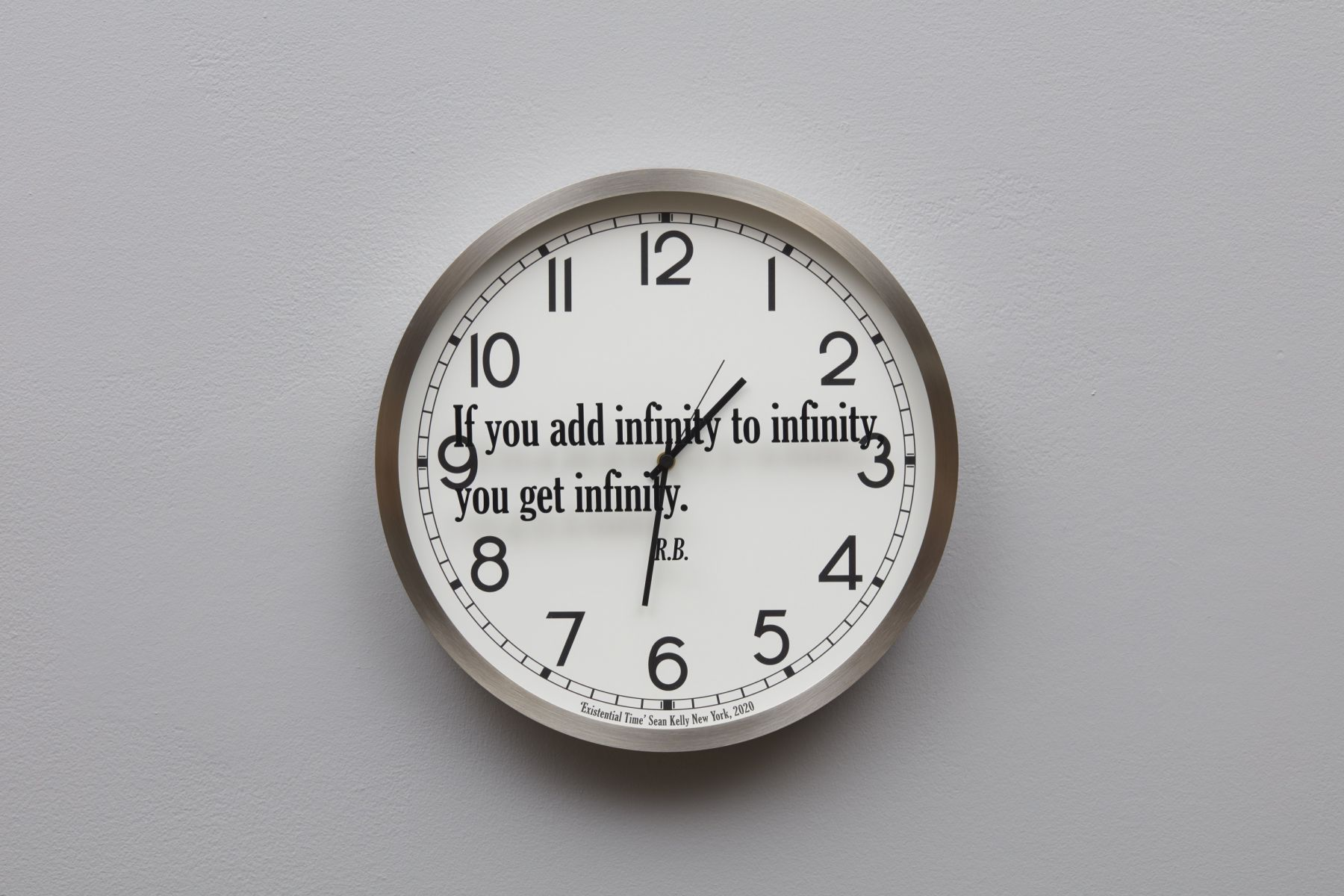 "clock ""if you add infinity"""