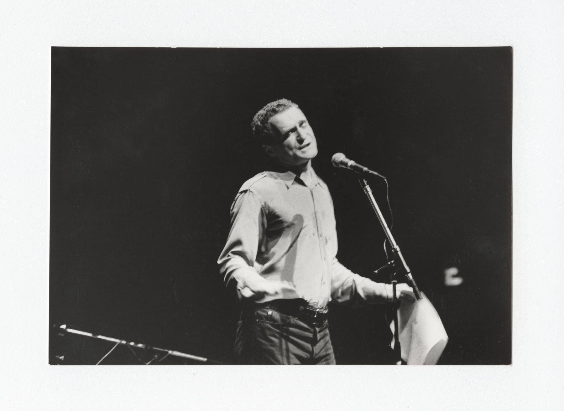 John Giorno performing at Centre Pompidou in Paris, June 10 1983