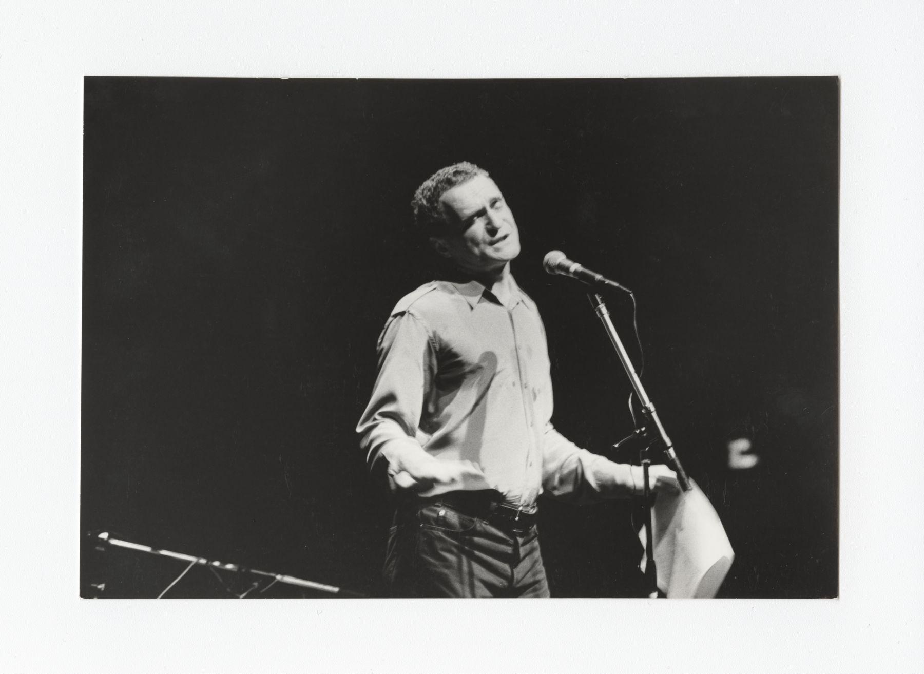 John Giorno performing at Centre Pompidou in Paris, June 10 1983