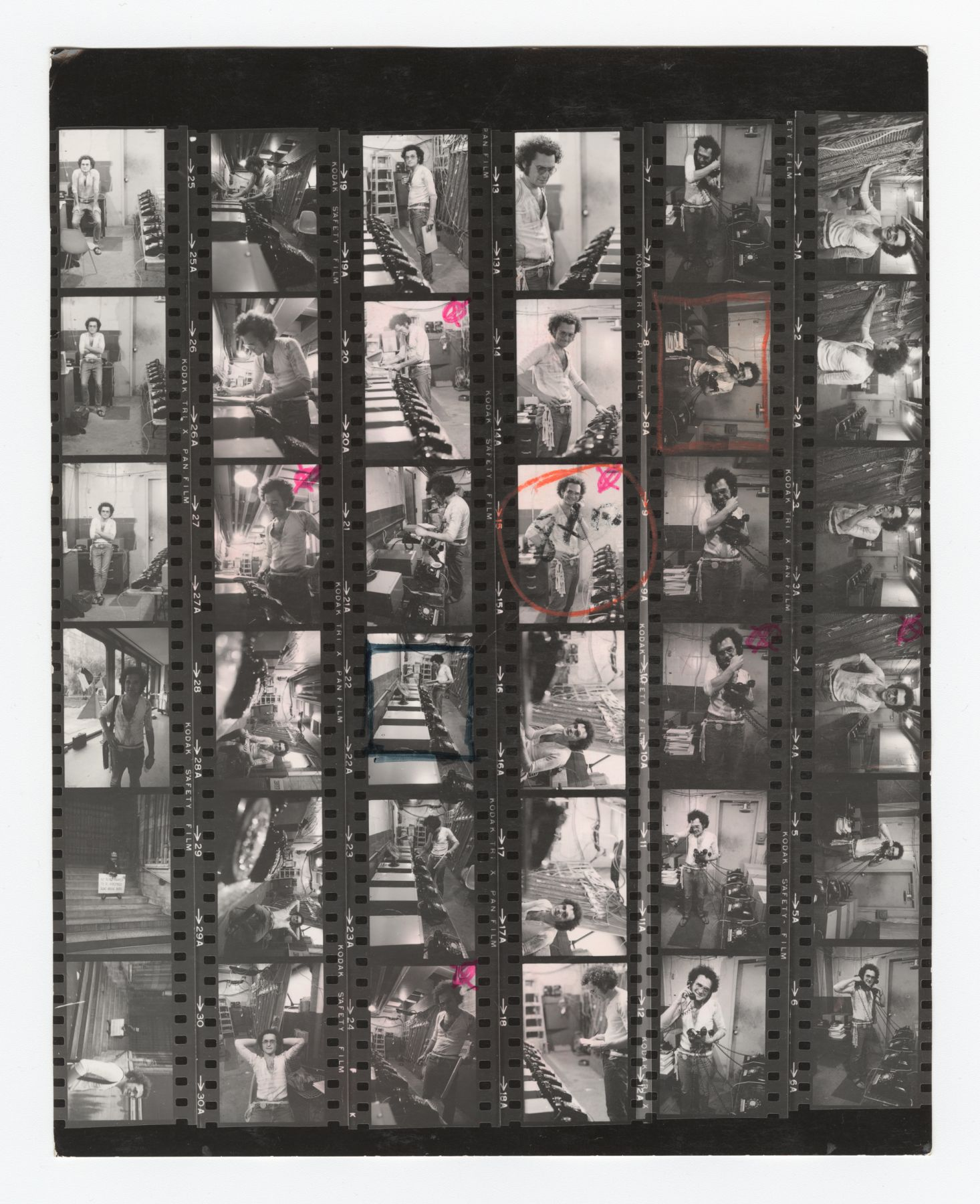 Dial-A-Poem MoMA Contact Sheet, 1970