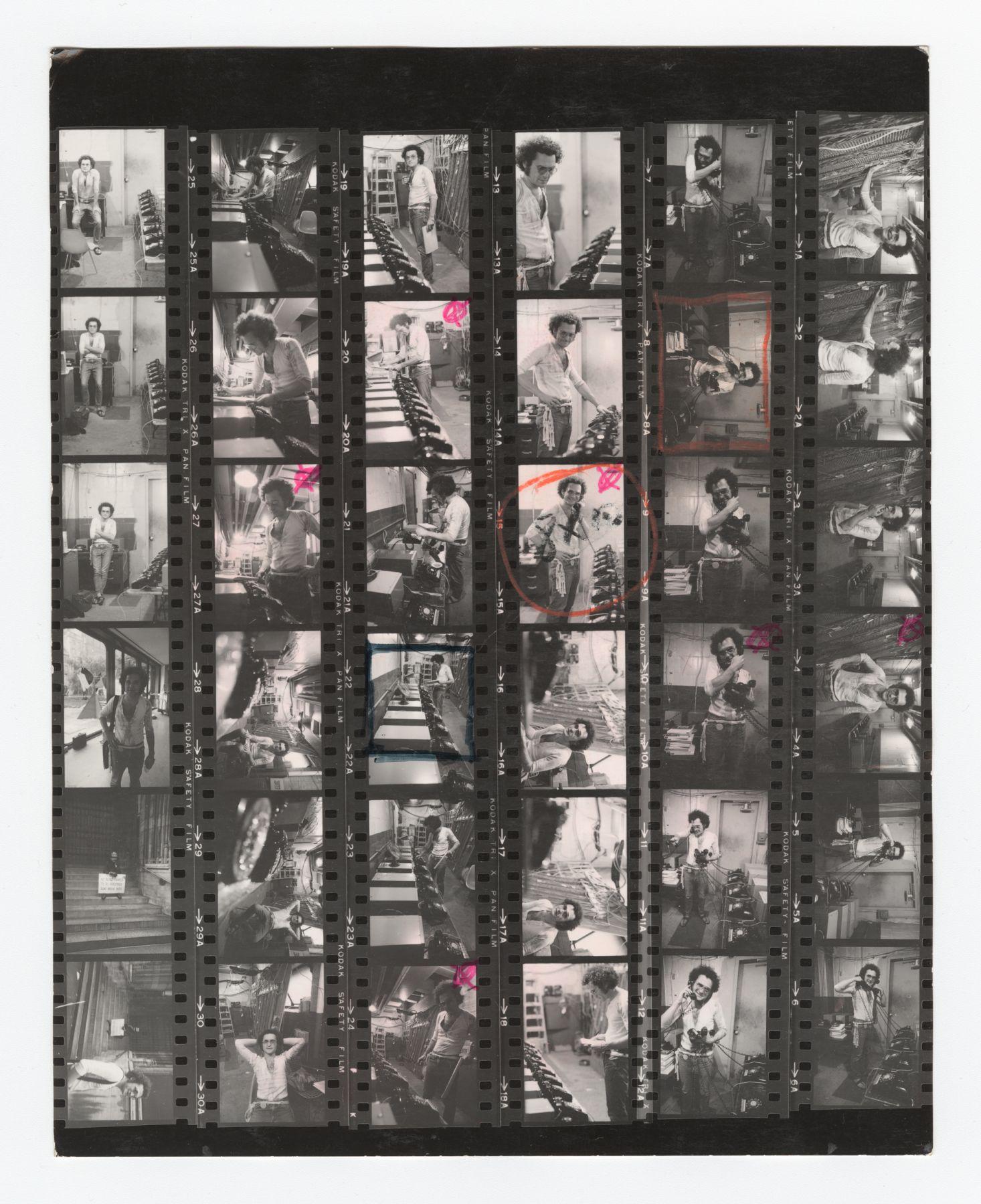 Dial-A-Poem MoMA Contact Sheet, 1970