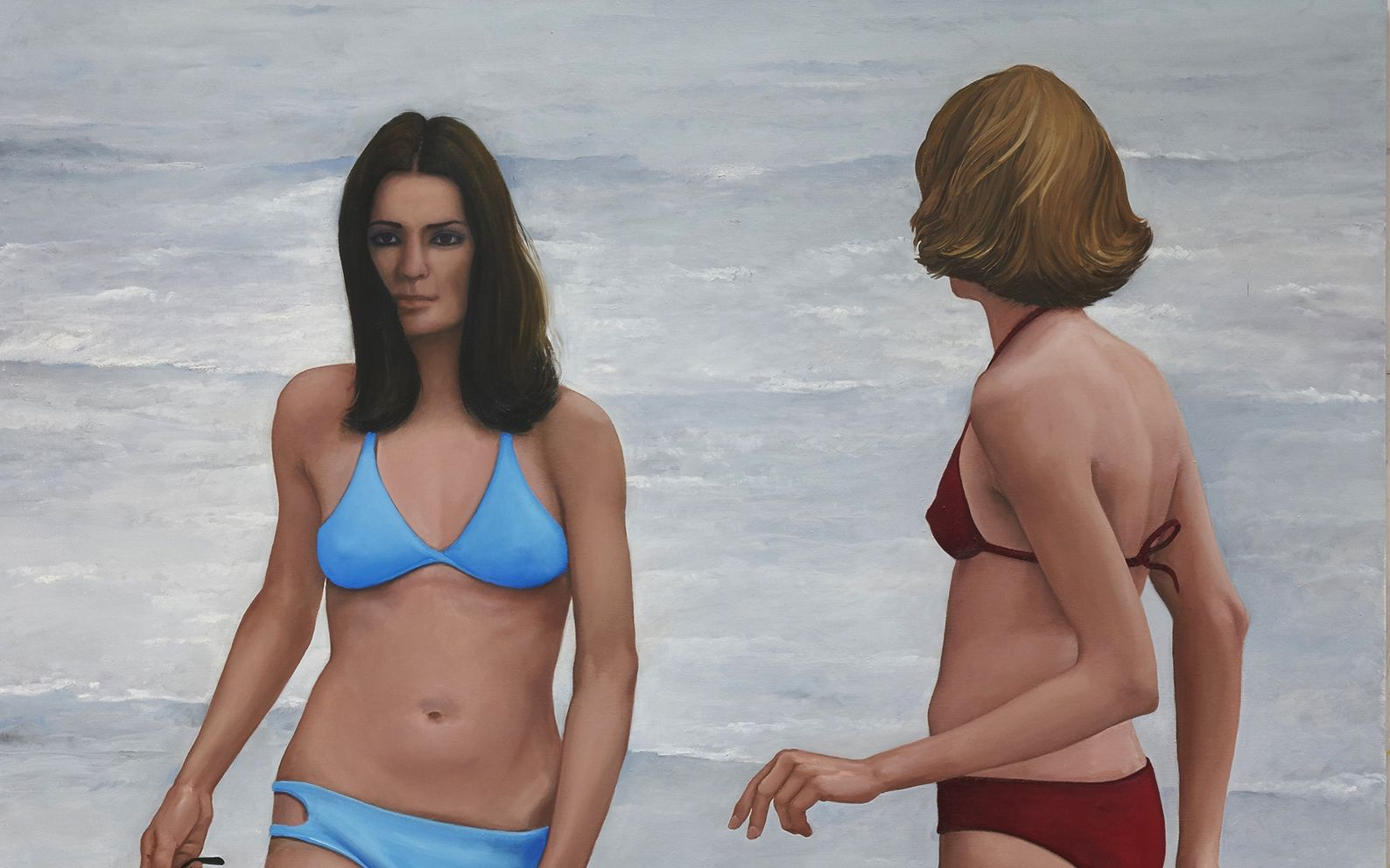 Bathers painting Detail