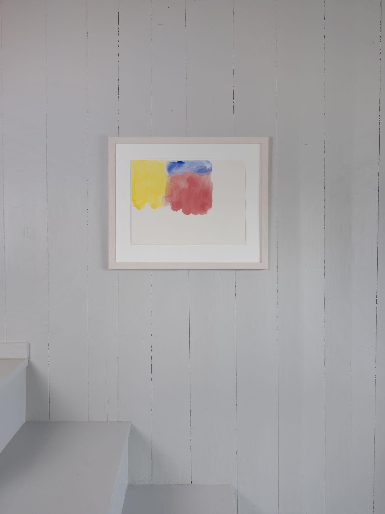 Markus Döbeli  Untitled, 2015  Watercolor on paper  46 x 61 cm  Installation View, OFFSITE: CHALET, Rossinière, Switzerland | Image © Julien Gremaud