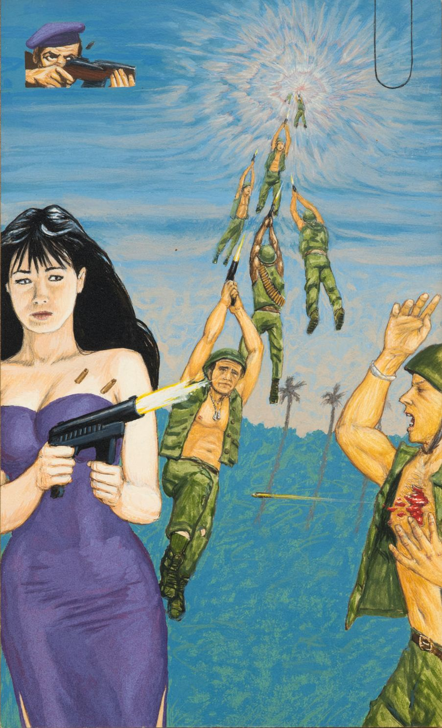 Jim Shaw Dream Object: Paperback Cover Painting (In Vietnem Shannon Doherty), 1996