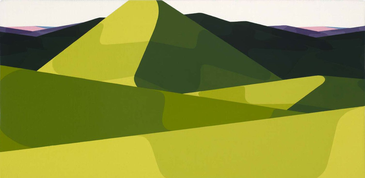 AlbrechtSchnider Landscape XII, 2011/12 oil on canvas 6.5 x 13 inches 16.5 x 33 cm AS 5722