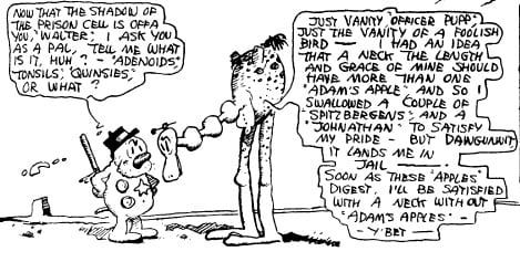 A drawing from a George Herriman Krazy Kat strip featuring Walter Cephus Austridge