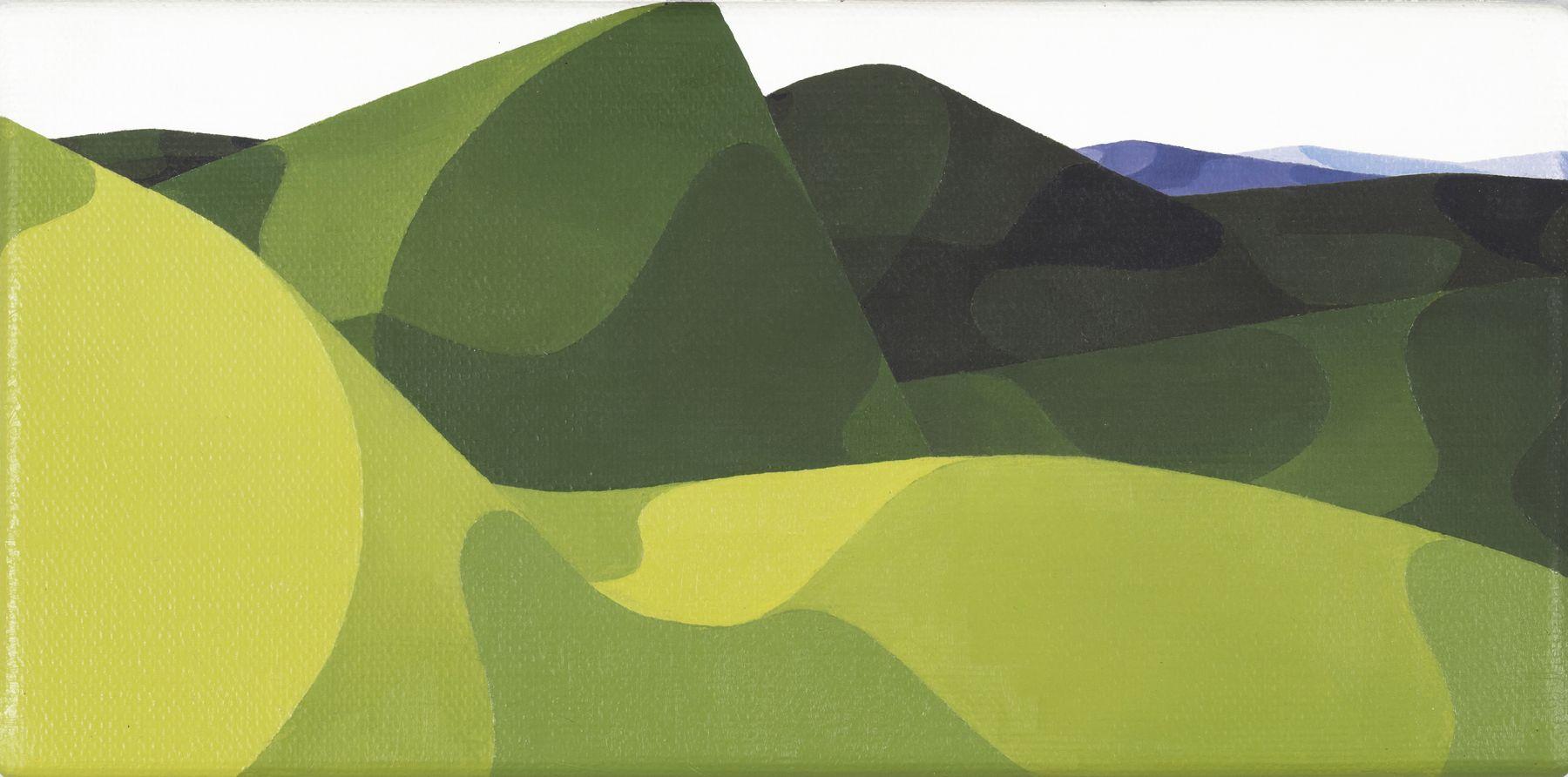 AlbrechtSchnider Ohne Titel (Landschaft), 2002 Oil on Canvas 15 x 30.50 cm 5.91 x 12.01 inches AS 7430