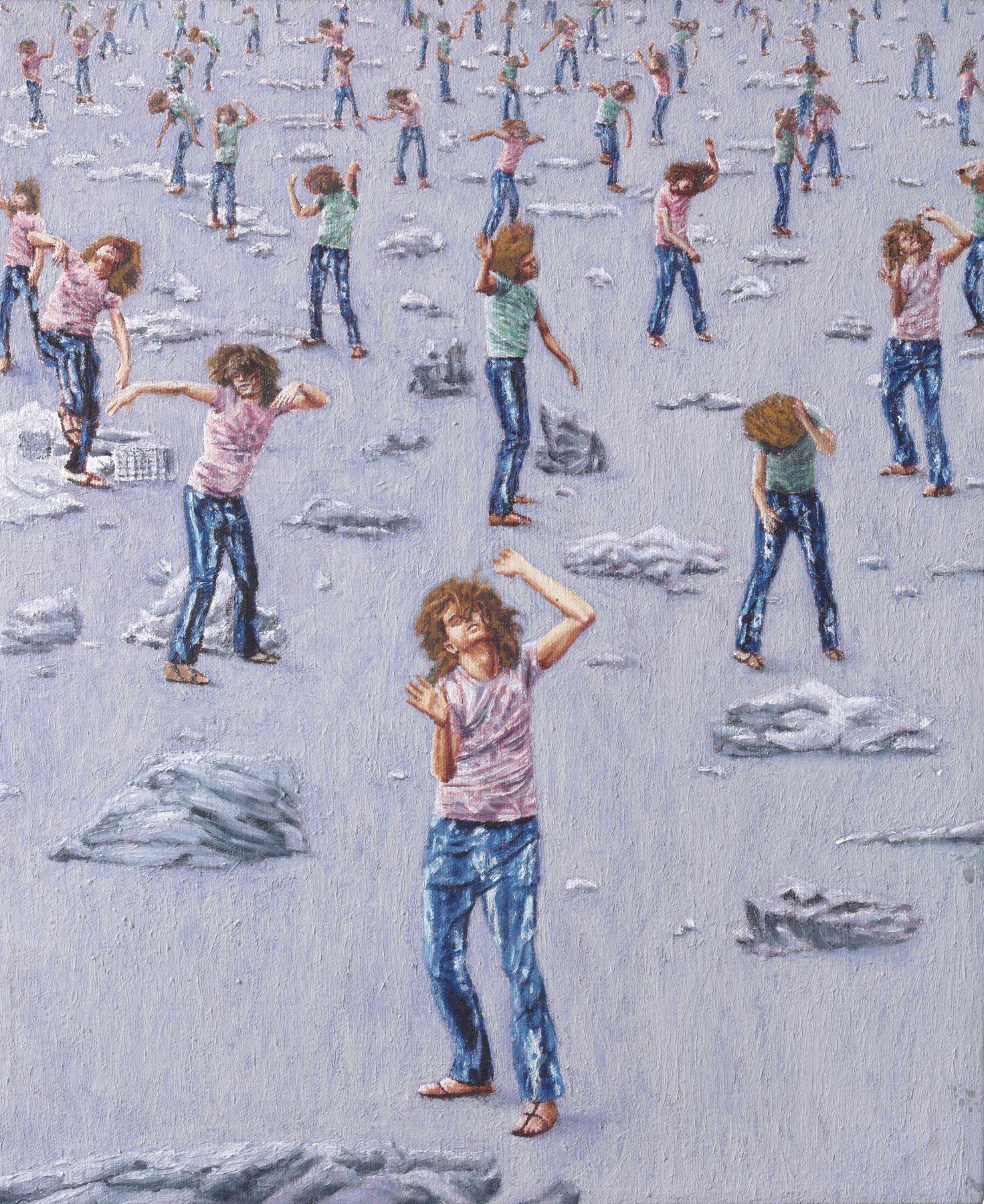 Elysian Fields (Utopian Landscape III), 1987 Acrylic on canvas43.2 x 35.6 cm