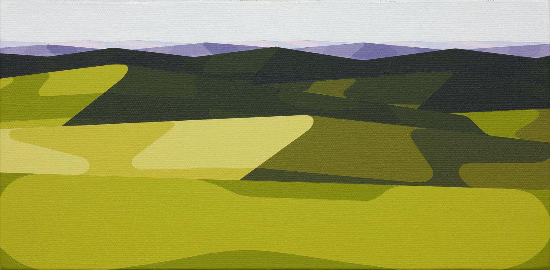 Albrecht Schnider  Landscape, 2019-2020  Oil on canvas  16.5 x 33 cm  Image © Julien GremaudDominique Uldry, Bern