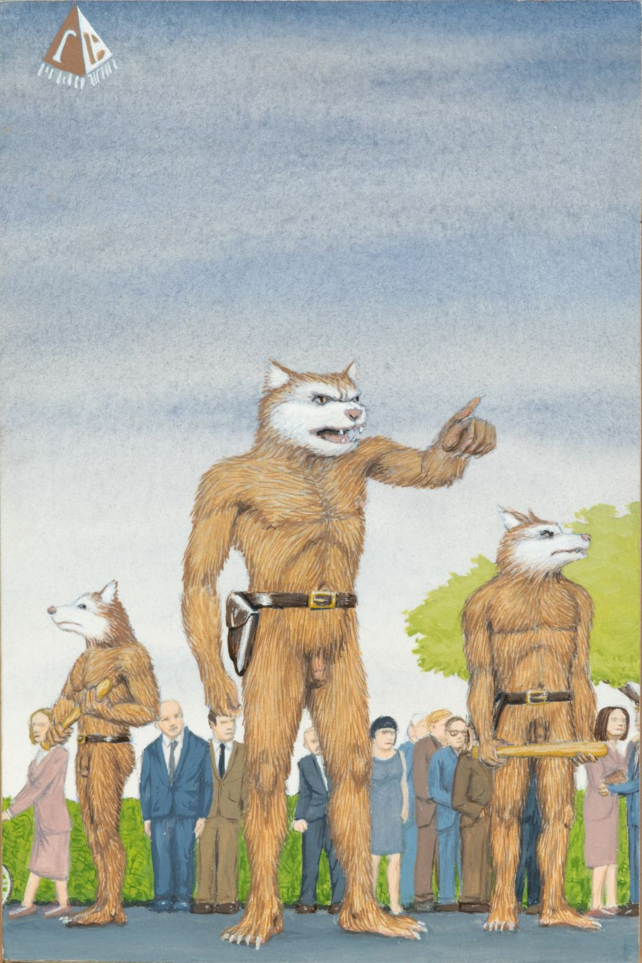 Jim Shaw  Dream Object: Paperback Cover Painting (Werewolves), 2001